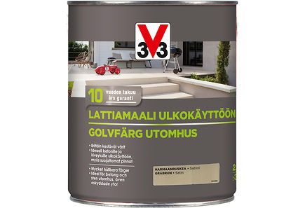 Image for V33 Lattiamaali betonille 2,5l harmaanruskea from Kodin Terra