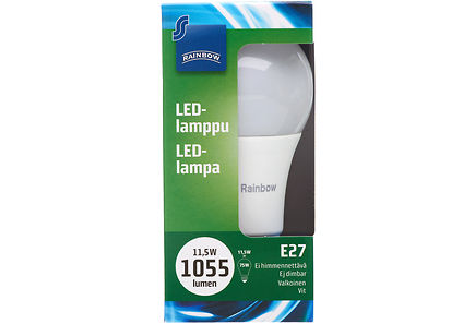 Image for Rainbow LED Standard E27, A75, 1055LM, 4000K 1 H87 from Kodin Terra