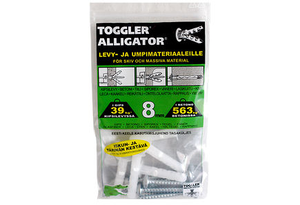 Image for TOGGLER ALLIGATOR Kiinnike laipalla 8mm 5kpl/IP + ruuvit from Kodin Terra