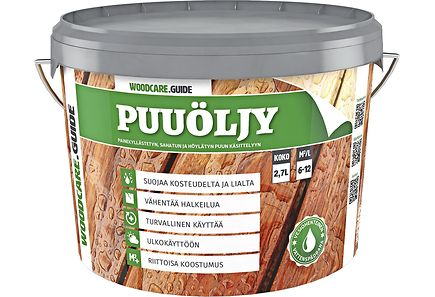 Image for WOODCARE.GUIDE puuöljy 2,7l musta from Kodin Terra
