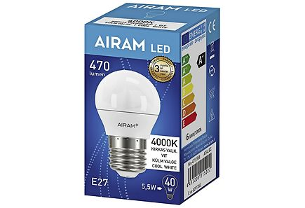 Image for Airam Led 5,5W/840 E27 koriste 500lm from Kodin Terra