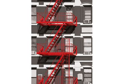 Image for Idealdecor valokuvatapetti Fire Escape 00432 4-osainen 183x254cm from Kodin Terra