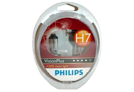 Image for Philips H7 VisionPlus autolamppu 12V 55W from Kodin Terra